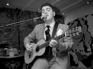 Country Blues Artist Harry Hornsey records at Sonicword